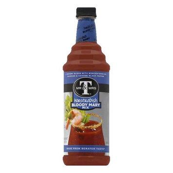Mr. & Mrs. T Horseradish Bloody Mary Mix Premium, 33.8 OZ (Pack of 6)