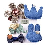 cuhair 5pcs Cute Flower Cartoon Baby Toddler Girl Hair Clip Barrettes Hair Claw Hair Accessories