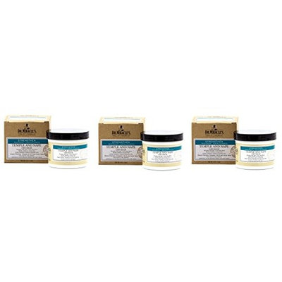 [VALUE PACK OF 3] DR. MIRACLE'S STRENGTHEN TEMPLE & NAPLE GRO BALM (REGULAR) 4oz : Beauty