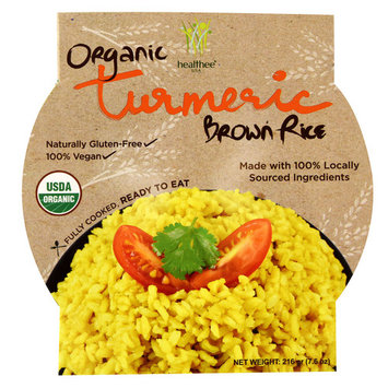 Healthee Organic Brown Rice Bowl Turmeric -- 7.6 oz
