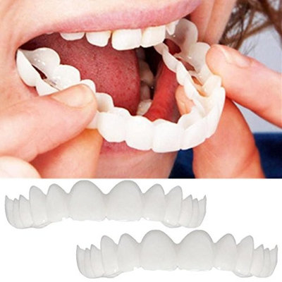 KFSO Braces Denture Teeth-Serrated Cosmetic Teeth For Dental Beauty-Perfect Smile Hug Tooth Cap-Make White Teeth-Beautiful And Neat-Perfect Smile