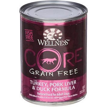 Wellness CORE Turkey, Pork Liver & Duck Canned Dog Food, 12.5 oz.
