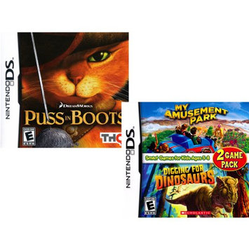 Cokem 2 pack: Puss in Boots/ My Amusement Park (DS)