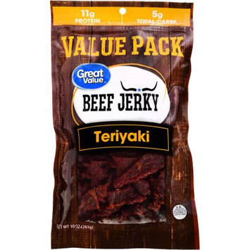 Wal-mart Stores, Inc. Great Value Beef Jerky, Protein Snack, Teriyaki, 10oz