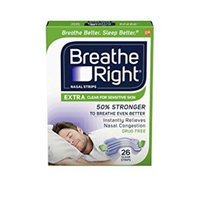Breathe Right Extra Strength Clear Drug-Free Nasal Strips for Congestion Relief, 26 count - Pack of 3