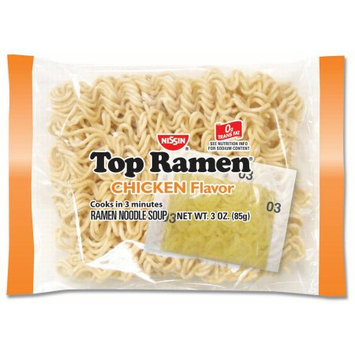 Nissin Top Ramen Noodles, Chicken, 3 Oz, 24 Ct