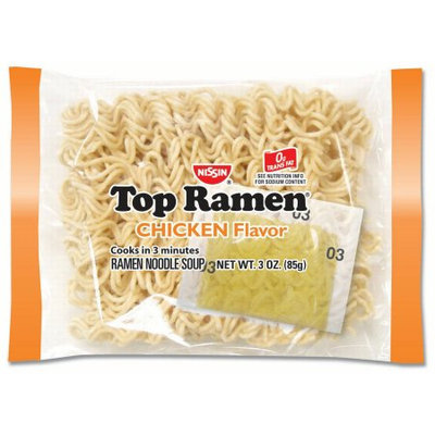 Nissin Top Ramen Noodles, Chicken, 3 Oz, 24 Ct