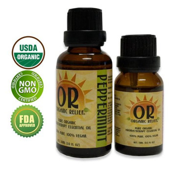 Organic Relief - Organic Peppermint Essential Oil 15ml