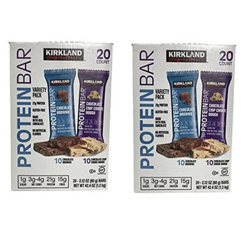 Kirkland Signature Protein bar energy variety pack nAAGna, 2Pack (20 Count)