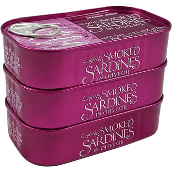 Trader Joe's Lightly Smoked Sardines in Olive Oil - 3 Pack