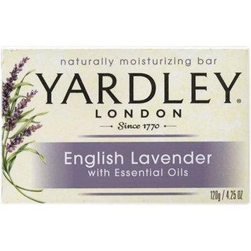 Yardley London Moisturizing Bar English Lavender with Essential Oils 4.25 oz (Pack of 6)