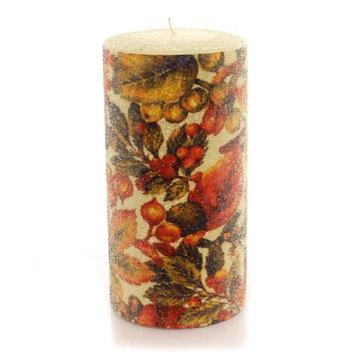 Fall LEAVES CANDLE Wax Wax Autumn Luminary Ta195