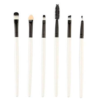 Makeup Brush Set, Iuhan 6 Pieces Professional Synthetic Kabuki Eye Makeup Cosmetics Brush Set, Eyeliner, Eye Shadow, Eye Brow, Foundation, Powder Liquid Cream Blending Brush