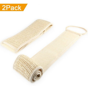 Exfoliating Loofah Back Scrubber for Men ,Women and Kids - Vanzon Body Sponge Luffa Scratcher Cleaner for Shower and Bath(2 Pack)