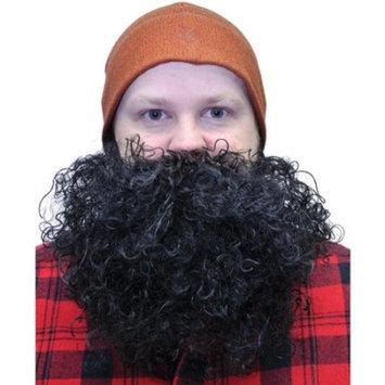 Black Curly Adult Halloween Big Beard