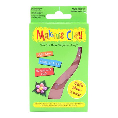Makin's No Bake Polymer Clay 120 g, terra cotta [pack of 3]