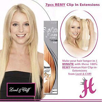 LORD & CLIFF SEVEN PIECE STRAIGHT REMY HAIR CLIP IN EXTENSION 18