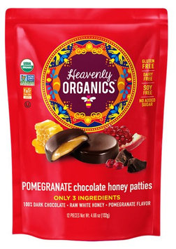 Heavenly Organics Chocolate Honey Pattie™ Pomegranate - 12 Patties pack of 4