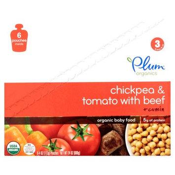 Plum Pbc Plum Organics Chickpea & Tomato with Beef + Cumin Organic Baby Food, 24 oz, (Pack of 6)