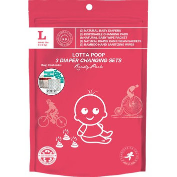 Products on the Go POTG1021VB Lotta Poop 3 Complete Diaper Change Sets Large