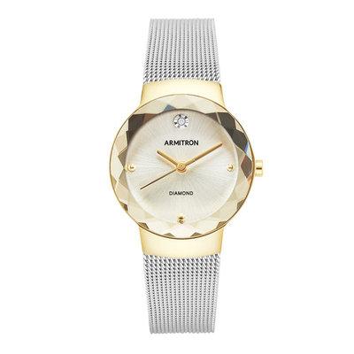 Armitron Two Tone Mesh Bracelet Watch