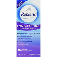 Replens Replens Long Lasting Vaginal Moisturizer, 14 applications 1.23 oz (Pack of 2)