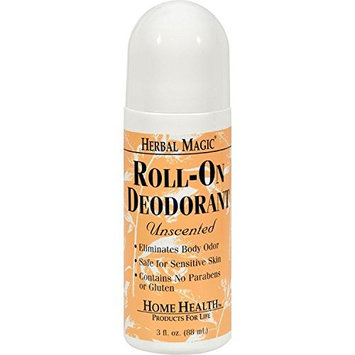 Home Health Roll-On Deodorant Herbal Magic Unscented - 3 fl oz (Pack of 2)