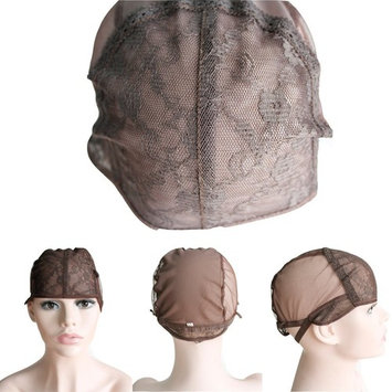 CXYP Lace Wig Caps For Making Wigs With Adjustable Strap Weaving Cap Tools Hairnets Glueless Wig Cap (Middle, brown)
