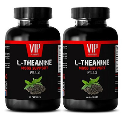 Theanine sleep - L-THEANINE MOOD SUPPORT - Calm sleep aid - 2 Bottles 120 capsules