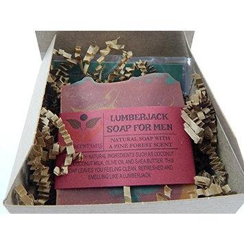 Lumberjack Soap For Men Pine Forest Man Scent Comes In Gift Box Handmade With Natural Ingredients Such as Coconut Olive Oil and Coconut Milk