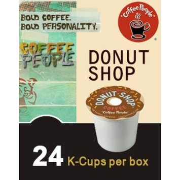 Coffee People Donut Shop Coffee, Regular Medium Roast, K-Cup Portion Count for Keurig Brewers 24-Count (Pack of 4)