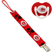 Football Fanatics Cincinnati Reds Infant Pacifier with Clip - Red