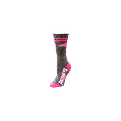 New England Patriots Ladies Marble Tall Socks - Gray/Pink