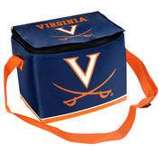 Forever Collectibles Virginia Cavaliers Zippered Insulated Lunch Bag - Navy Blue