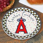 Los Angeles Angels of Anaheim Santa Ceramic Cookie Plate