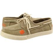 Fansedge Clemson Tigers Campus Cruzerz Captain Shoes - Khaki