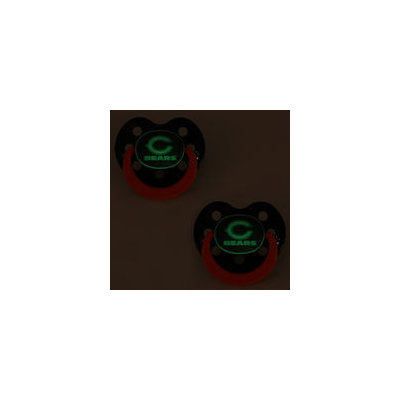 Chicago Bears Glow in Dark 2-Pack Baby Pacifier Set - NFL Infant Pacifiers CHB112NG Baby Fanatic