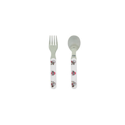 Baby Fanatic Fork and Spoon Set, Ohio State University