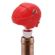 New Jersey Devils Logo Helmet Wine Bottle Stopper