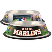 Hunter Manufacturing Miami Marlins Stainless Steel Dog Bowl
