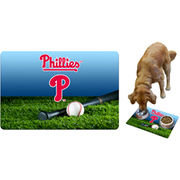 Philadelphia Phillies Field & Bat Pet Bowl Mat