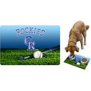 Colorado Rockies Field & Bat Pet Bowl Mat