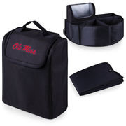 Picnic Time 715-00-179-374-0 University of Mississippi Rebels Digital Print Trunk Boss in Black with Cooler