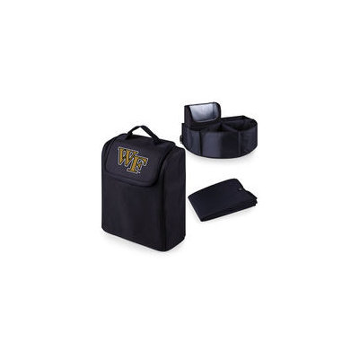 Picnic Time 715-00-179-614-0 Wake Forest University Digital Print Trunk Boss in Black with Cooler