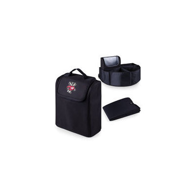 Picnic Time 715-00-179-644-0 University of Wisconsin Digital Print Trunk Boss in Black with Cooler