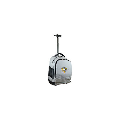 Mojo Licensing Mojo Pittsburgh Penguins Premium Grey Wheeled Backpack