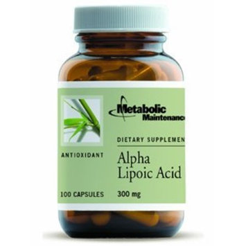 Metabolic Maintenance Alpha Lipoic Acid - 300 mg ALA, Antioxidant Support for Nerve + Liver Health (100 Capsules)