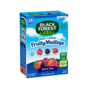 Ferrara Candy Company Black Forest Juicy Center Fruit Medleys Fruit Flavored Snacks, Berry Mix Flavors, 0.8 Ounce Bag, Pack of 28