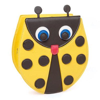 Bundle Monster BMC Sunshine Yellow PU Leather Cute Ladybug Shaped Shoulder Purse Clutch Handbag