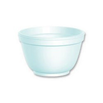 Dart 6B12 Foam Container, 6 oz, White, Squat